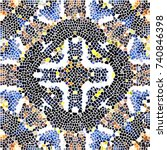 mosaic colorful pattern for... | Shutterstock . vector #740846398