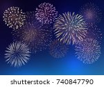set of bright colorful... | Shutterstock .eps vector #740847790