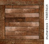 side of wooden box. texture of... | Shutterstock . vector #740855614