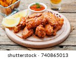 hot and spicy buffalo chicken... | Shutterstock . vector #740865013