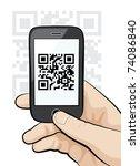illustration of a mobile phone... | Shutterstock .eps vector #74086840