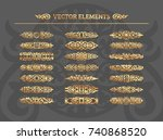 vector set of vintage design... | Shutterstock .eps vector #740868520