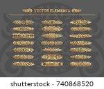 vector set of vintage design... | Shutterstock .eps vector #740868520