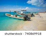 isla mujeres island caribbean... | Shutterstock . vector #740869918