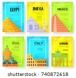 travel information traditional... | Shutterstock .eps vector #740872618