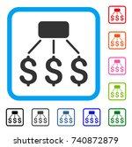 financial scheme icon. flat...
