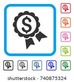 featured price label icon. flat ... | Shutterstock .eps vector #740875324