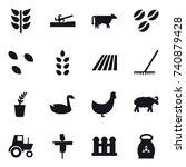 16 vector icon set   soil... | Shutterstock .eps vector #740879428
