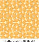 vector floral art nouveau... | Shutterstock .eps vector #740882500
