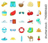 activity level icons set.... | Shutterstock .eps vector #740884660