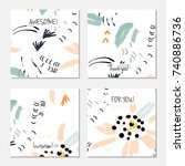 hand drawn creative universal... | Shutterstock .eps vector #740886736
