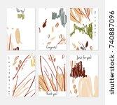hand drawn creative universal...   Shutterstock .eps vector #740887096