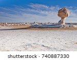 mushroom formations  a result... | Shutterstock . vector #740887330