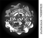 advisory on grey camouflage... | Shutterstock .eps vector #740889820