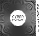 cyber monday sale background.... | Shutterstock .eps vector #740892589
