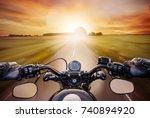 Pov Shot Of Young Man Riding O...