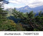 slovakia viewpoint with velky ... | Shutterstock . vector #740897320