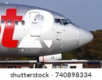 yeadon leeds england uk october ... | Shutterstock . vector #740898334