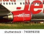 yeadon leeds england uk october ... | Shutterstock . vector #740898358