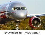 yeadon leeds england uk october ... | Shutterstock . vector #740898814