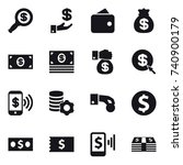 16 vector icon set   dollar... | Shutterstock .eps vector #740900179