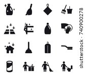 16 vector icon set   cleanser ... | Shutterstock .eps vector #740900278