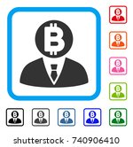 bitcoin manager icon. flat grey ...