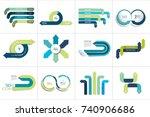 mega set of various arrows... | Shutterstock .eps vector #740906686
