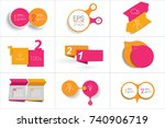 mega set of two elements banner.... | Shutterstock .eps vector #740906719