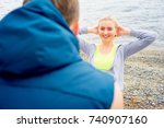 couple working out | Shutterstock . vector #740907160