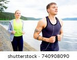 couple working out | Shutterstock . vector #740908090