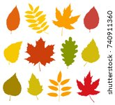 decorative set of isolated... | Shutterstock .eps vector #740911360