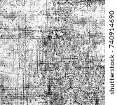 black and white grunge... | Shutterstock . vector #740914690