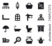 16 vector icon set   structure  ...   Shutterstock .eps vector #740917273