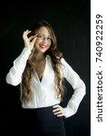 portrait of sexy business woman ...   Shutterstock . vector #740922259