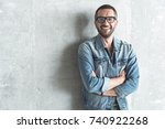 confident elegant male is... | Shutterstock . vector #740922268