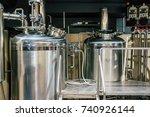 craft beer brewing equipment in ... | Shutterstock . vector #740926144