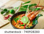"""Top View """"tom Yum Kung"""" On..."""