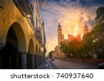 merida san idefonso cathedral... | Shutterstock . vector #740937640