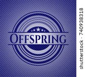 offspring with jean texture | Shutterstock .eps vector #740938318