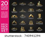 mega set and big group  real... | Shutterstock .eps vector #740941294