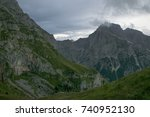 mountains around mangart in... | Shutterstock . vector #740952130