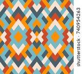 mosaic seamless texture. vector ... | Shutterstock .eps vector #740954263