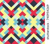 mosaic seamless texture. vector ...   Shutterstock .eps vector #740954269