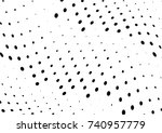 abstract halftone wave dotted... | Shutterstock .eps vector #740957779