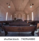 interior view of an abandoned... | Shutterstock . vector #740964880