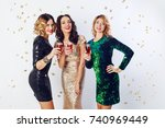 party and holidays concept....   Shutterstock . vector #740969449