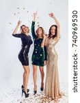 party and holidays concept.... | Shutterstock . vector #740969530