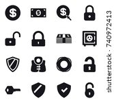 16 vector icon set   dollar ... | Shutterstock .eps vector #740972413