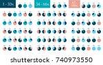 mega set of infographic...   Shutterstock .eps vector #740973550
